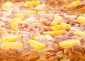 Cooked Hawaiian Pizza Stock Photos
