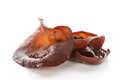 Cooked jew s ear white background culinary asian food ingredient gourmet healthy eating Stock Images