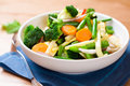 Cooked mixed vegetables Stock Photography