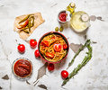 Cooked pasta Royalty Free Stock Photo