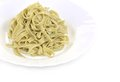 Cooked pasta tagliatelle. Royalty Free Stock Photo