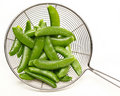 Cooked peas in a pod Royalty Free Stock Photos