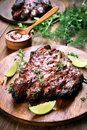 Cooked pork ribs Royalty Free Stock Photo