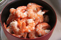 Cooked prawns Royalty Free Stock Images