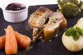 Cooked rack of lamb Royalty Free Stock Photo