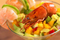Cooked Shrimp on Salad Royalty Free Stock Image