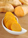Cooked Sweet Potato Slices Royalty Free Stock Photo