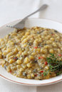 Cooked yellow peas Royalty Free Stock Images
