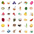 Cookery icons set, isometric style
