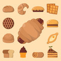 Cookie cakes tasty snack delicious chocolate homemade pastry biscuit vector illustration