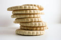 Cookie cracker pile . Photo Royalty Free Stock Photo