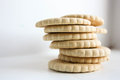 Cookie cracker pile. Photo Royalty Free Stock Photo