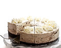 Cookie and cream cheese cake Royalty Free Stock Photography