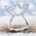 Cookie cutter angel decoration with Royalty Free Stock Photos