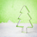 Cookie cutter xmas decoration with Royalty Free Stock Images