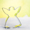 Cookie cutter xmas decoration with Royalty Free Stock Image
