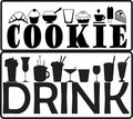 Cookie and drink Royalty Free Stock Photos