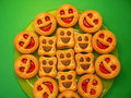 Cookie fresh with happy face Royalty Free Stock Photos