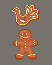 Cookie gingerbread homemade breakfast bake cakes isolated and tasty snack biscuit pastry delicious sweet dessert bakery