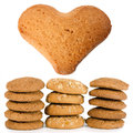 Cookie home heart Royalty Free Stock Photos