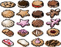 Cookie icons Stock Photo