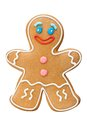 Cookie man gingerbread isolated on white Stock Photo
