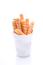 Cookie wafer rolls Royalty Free Stock Photo