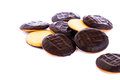 Cookies chocolate isolated on white background Royalty Free Stock Photos