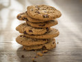 Cookies with chokolate on a table Royalty Free Stock Photo