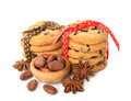 Cookies, cocoa beans, and anise Stock Image