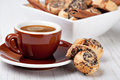 Cookies and coffee cup Royalty Free Stock Image