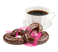Cookies and a cup of coffee Stock Photography