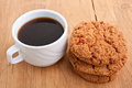 Cookies and a Cup of Coffee Royalty Free Stock Photo