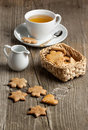 Cookies and cup of tea Stock Images
