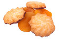 Cookies and dried apricots Royalty Free Stock Photos