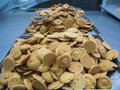 Cookies in factory Royalty Free Stock Photo