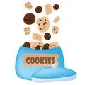 Cookies falling in the jar