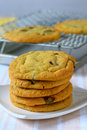 Cookies fresh baked stack of warm Royalty Free Stock Images
