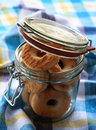 Cookies in glass jar Stock Images
