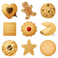 Cookies highly detailed icons Stock Photo