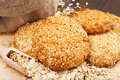 Cookies with sesame seeds Stock Images