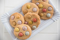 Cookies with smarties Royalty Free Stock Photo
