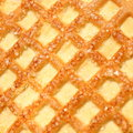 Cookies with sugar cristals close up Royalty Free Stock Images