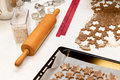 Cookies utensils for baking christmas Stock Photo