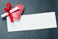 Cookies Valentine's Day and Valentine paper Royalty Free Stock Image