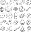 Cookies vector collection of in line art Stock Photography
