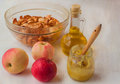 Cooking of apple dessert Stock Images
