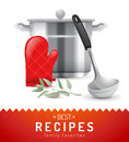Cooking background with highly detailed coooking icon Stock Photos