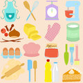 Cooking, Baking Tools in Pastel Royalty Free Stock Photography