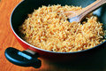 Cooking biryani rice Royalty Free Stock Photo